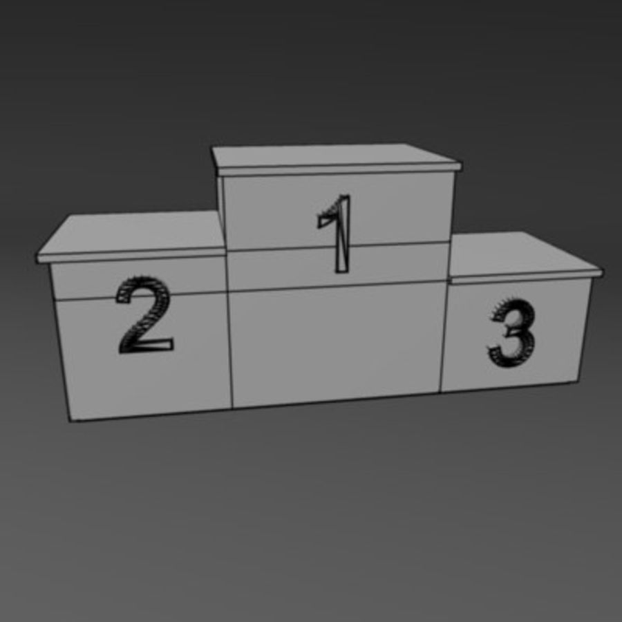 winner podium1 royalty-free 3d model - Preview no. 3