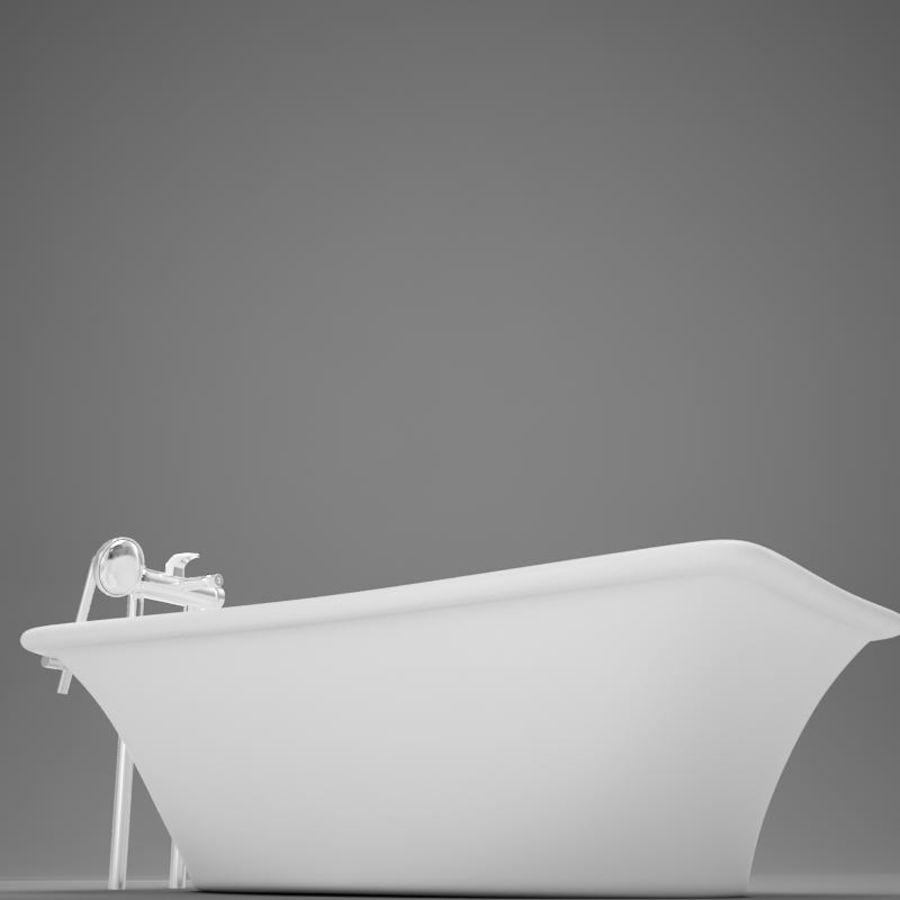 온건 한 고전적인 온수 욕조 royalty-free 3d model - Preview no. 9