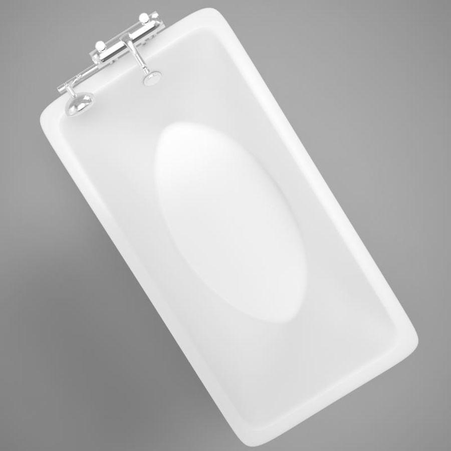 온건 한 고전적인 온수 욕조 royalty-free 3d model - Preview no. 4
