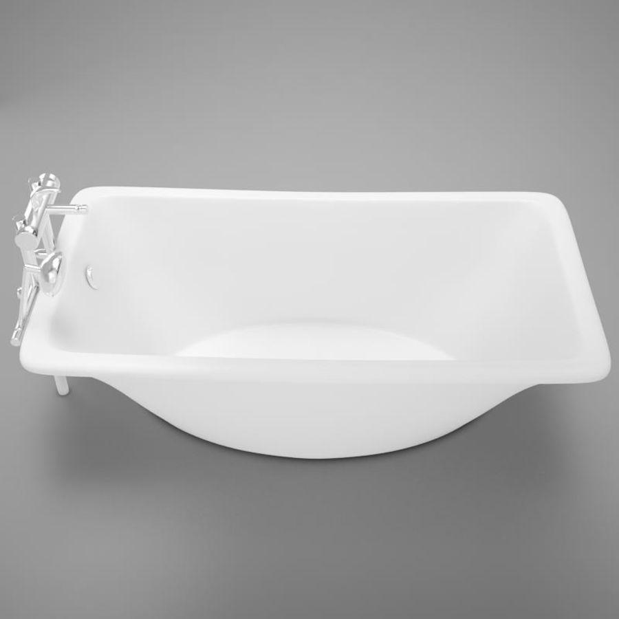 온건 한 고전적인 온수 욕조 royalty-free 3d model - Preview no. 10