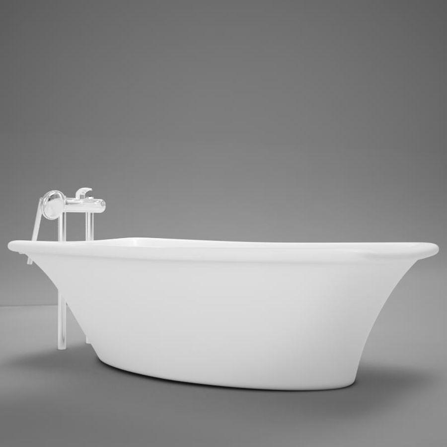 온건 한 고전적인 온수 욕조 royalty-free 3d model - Preview no. 2