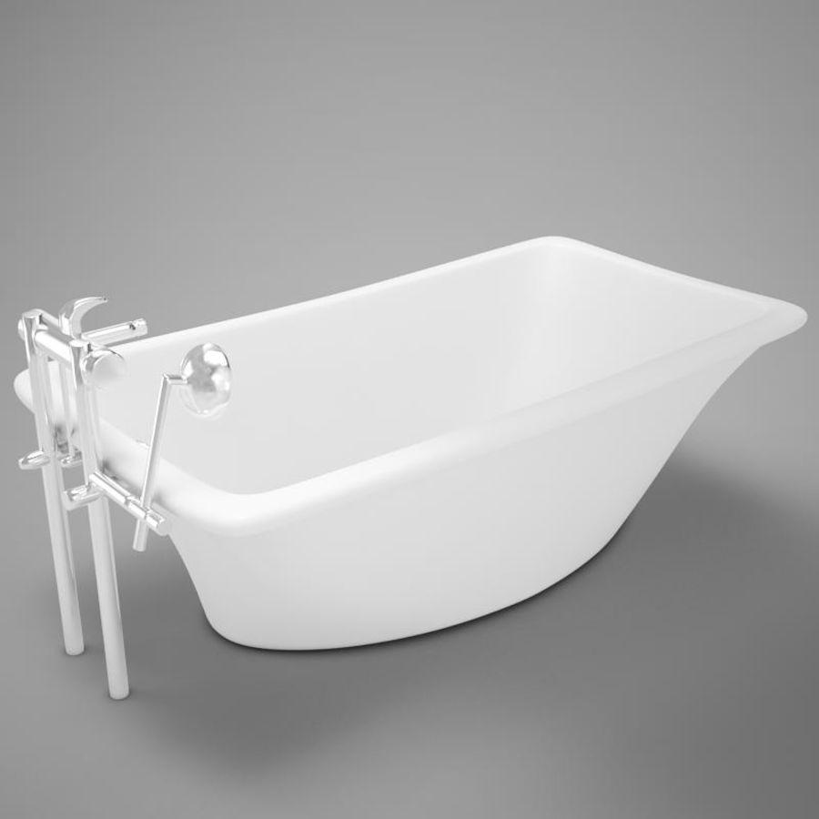 온건 한 고전적인 온수 욕조 royalty-free 3d model - Preview no. 8