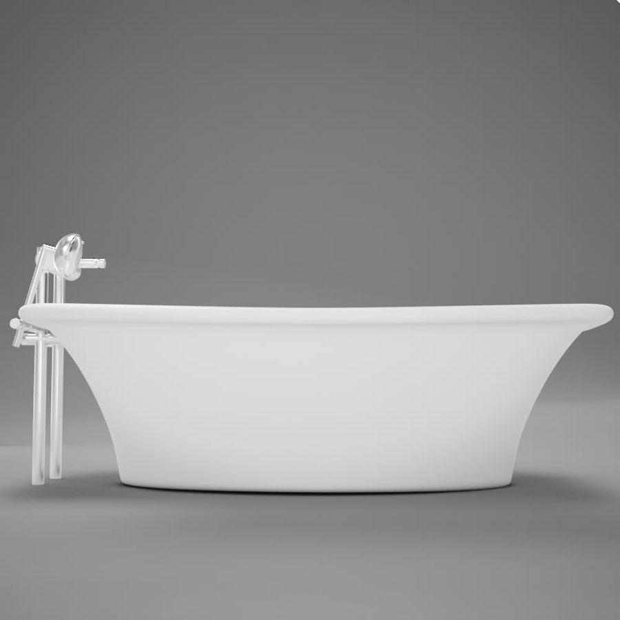 온건 한 고전적인 온수 욕조 royalty-free 3d model - Preview no. 7