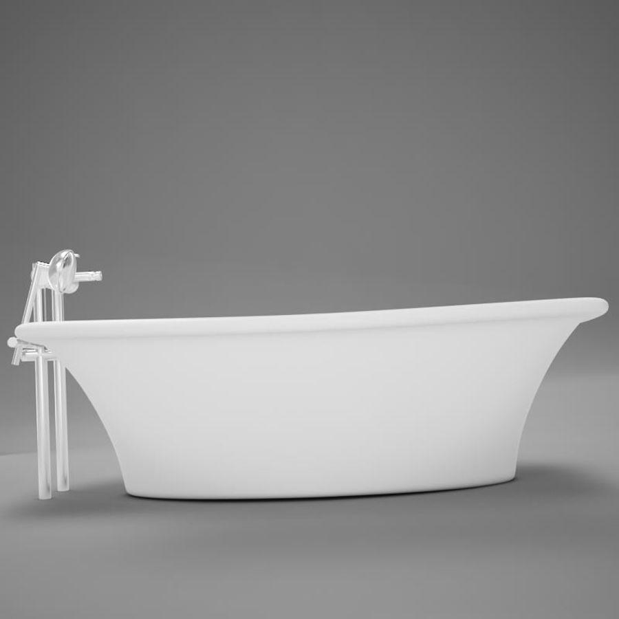 온건 한 고전적인 온수 욕조 royalty-free 3d model - Preview no. 6