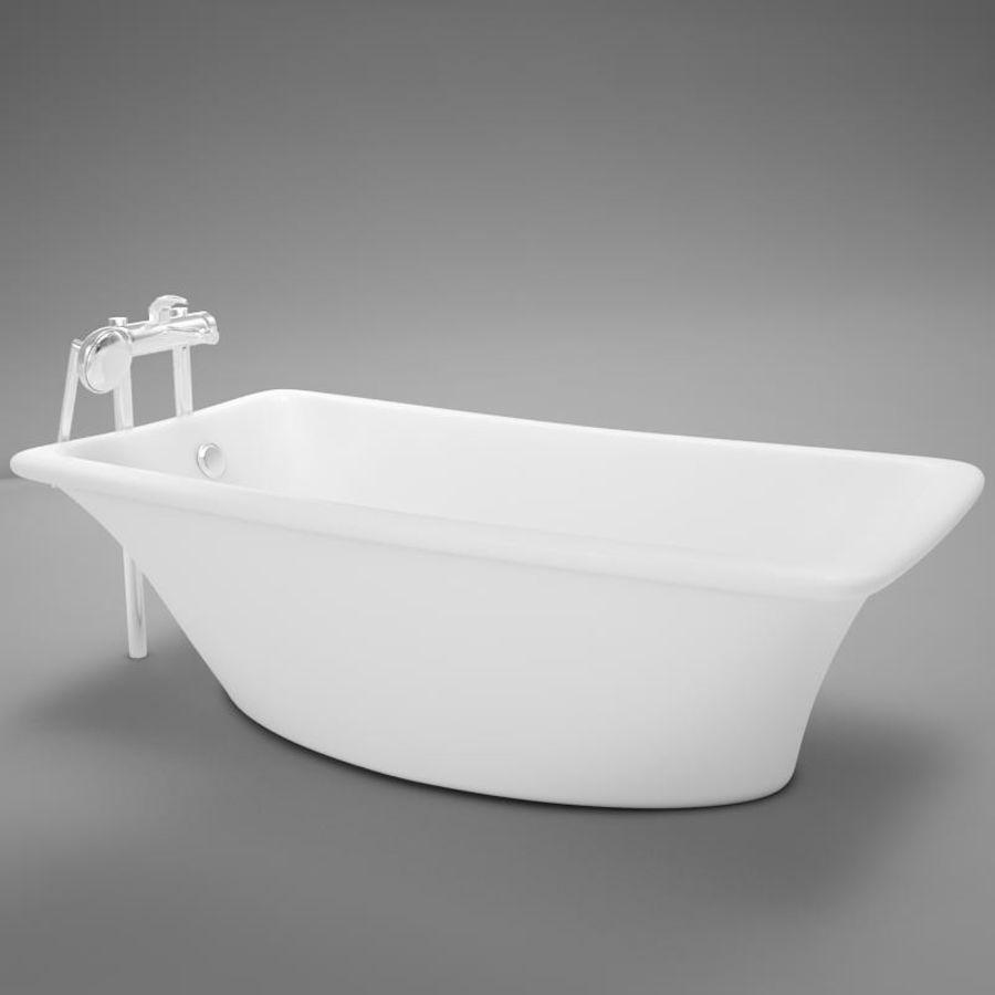 온건 한 고전적인 온수 욕조 royalty-free 3d model - Preview no. 5