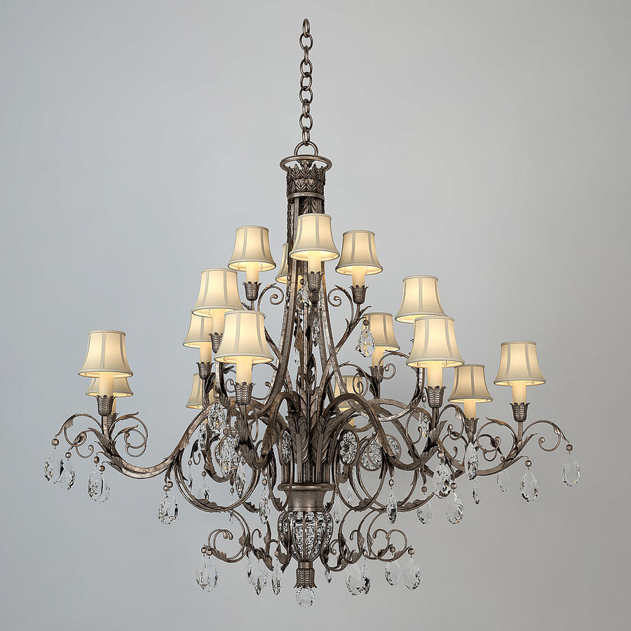 1 Fine Art Lamps Chandelier Royalty Free 3d Model   Preview No.