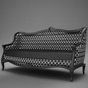 Old Modern club Sofa 3d model