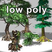 LowPoly Fantasy Trees 3d model