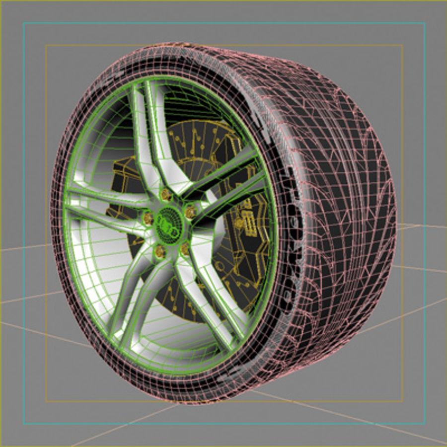 sport car wheel royalty-free 3d model - Preview no. 2