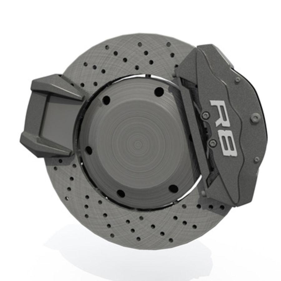 sport car wheel royalty-free 3d model - Preview no. 3