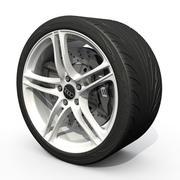 跑车轮 3d model