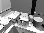 buffet scene 3d model