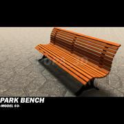 ławka parkowa 03 3d model