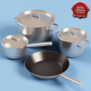 Pots and pans 3d model
