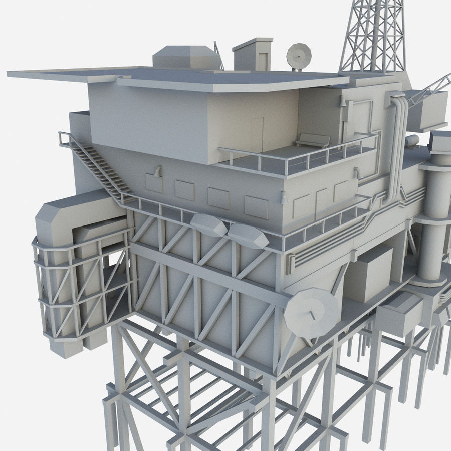 Piper Alpha royalty-free 3d model - Preview no. 4