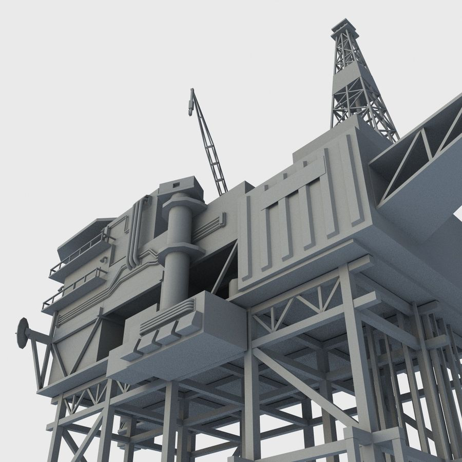 Piper Alpha royalty-free 3d model - Preview no. 7
