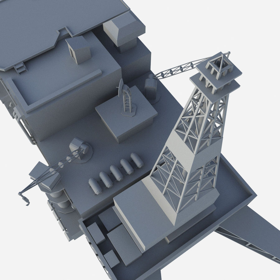 Piper Alpha royalty-free 3d model - Preview no. 5
