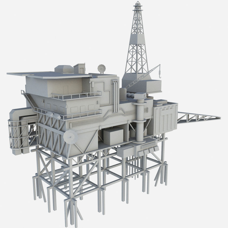 Piper Alpha royalty-free 3d model - Preview no. 1