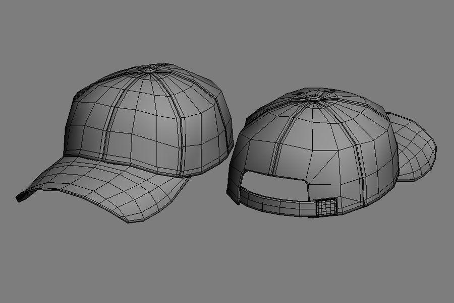 Baseball cap #01 royalty-free 3d model - Preview no. 7