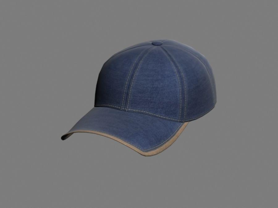 Baseball cap #01 royalty-free 3d model - Preview no. 2