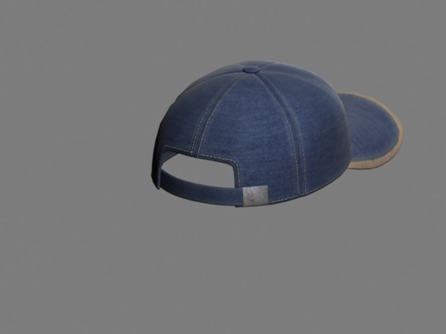 Baseball cap #01 royalty-free 3d model - Preview no. 3