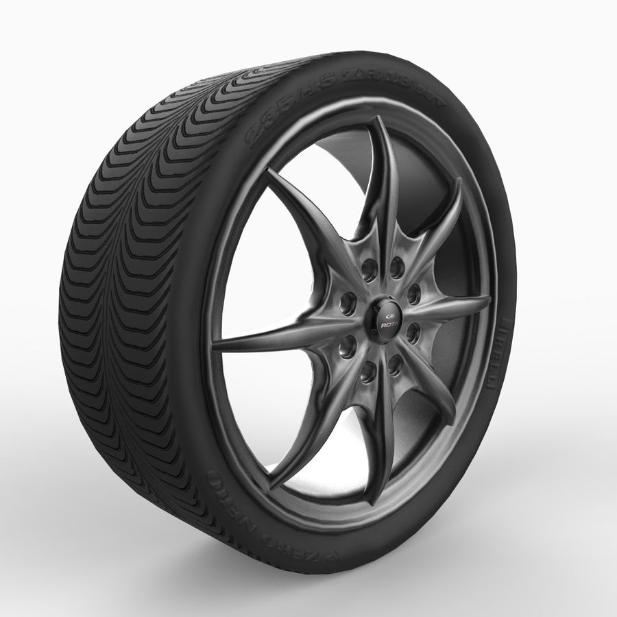 Mag Wheels - Rota Circuit royalty-free 3d model - Preview no. 1
