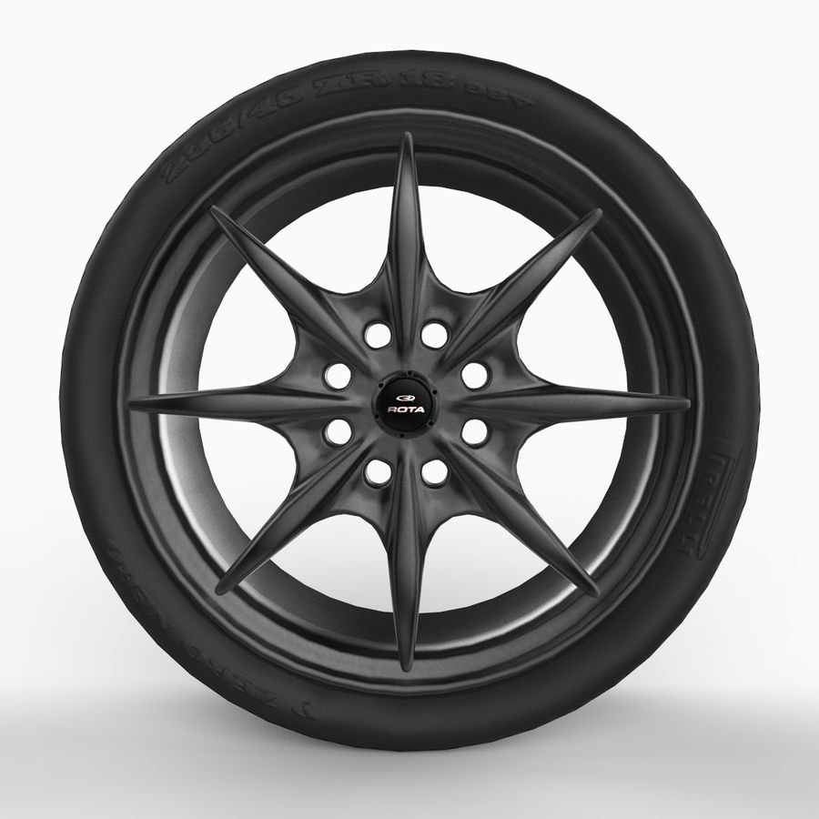 Mag Wheels - Rota Circuit royalty-free 3d model - Preview no. 4