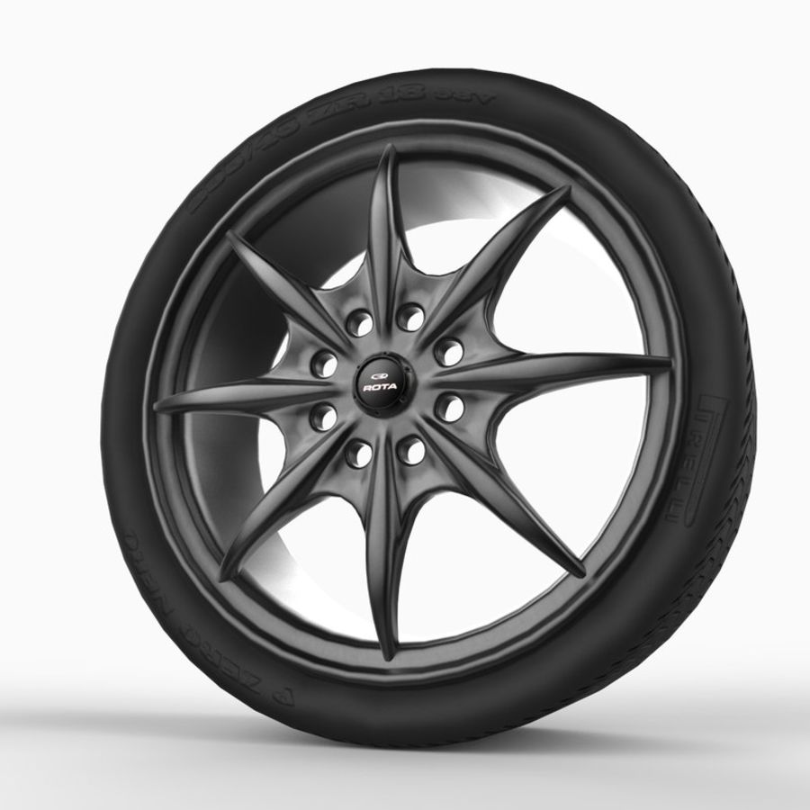 Mag Wheels - Rota Circuit royalty-free 3d model - Preview no. 2