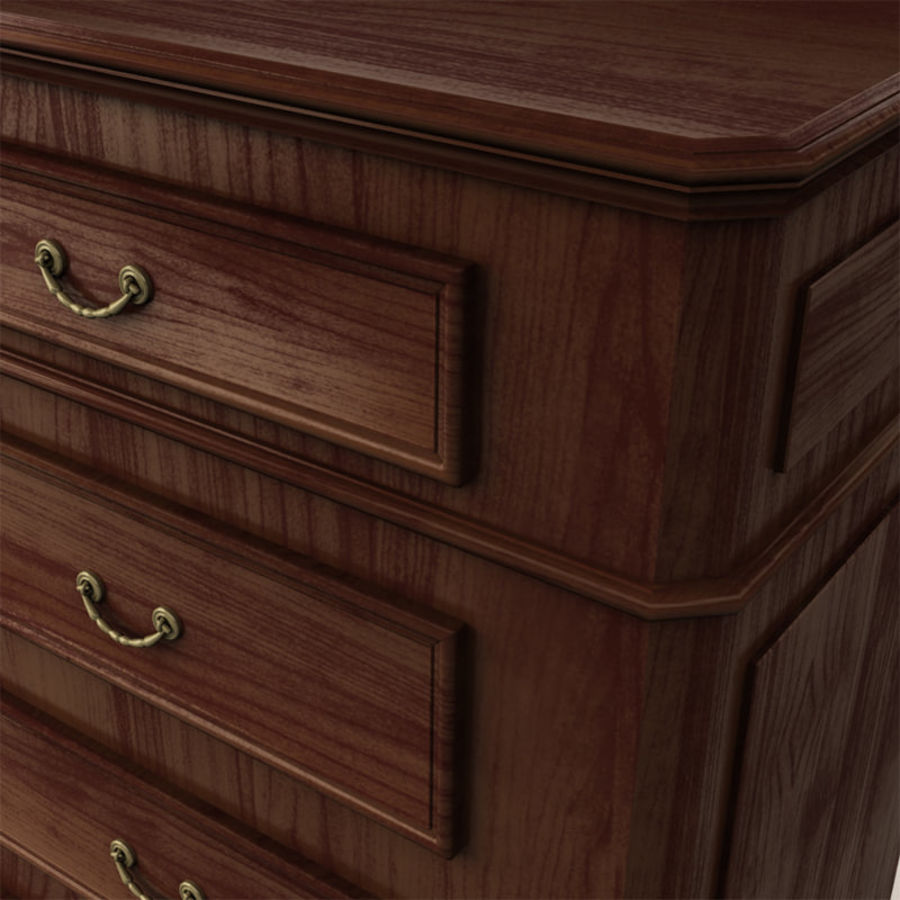 Chest of drawers royalty-free 3d model - Preview no. 6