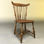 Wooden Kitchen Chair 3d model