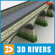 Stone bridge v1 by 3DRivers 3d model