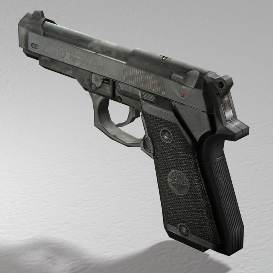 PISTOLA royalty-free modelo 3d - Preview no. 3