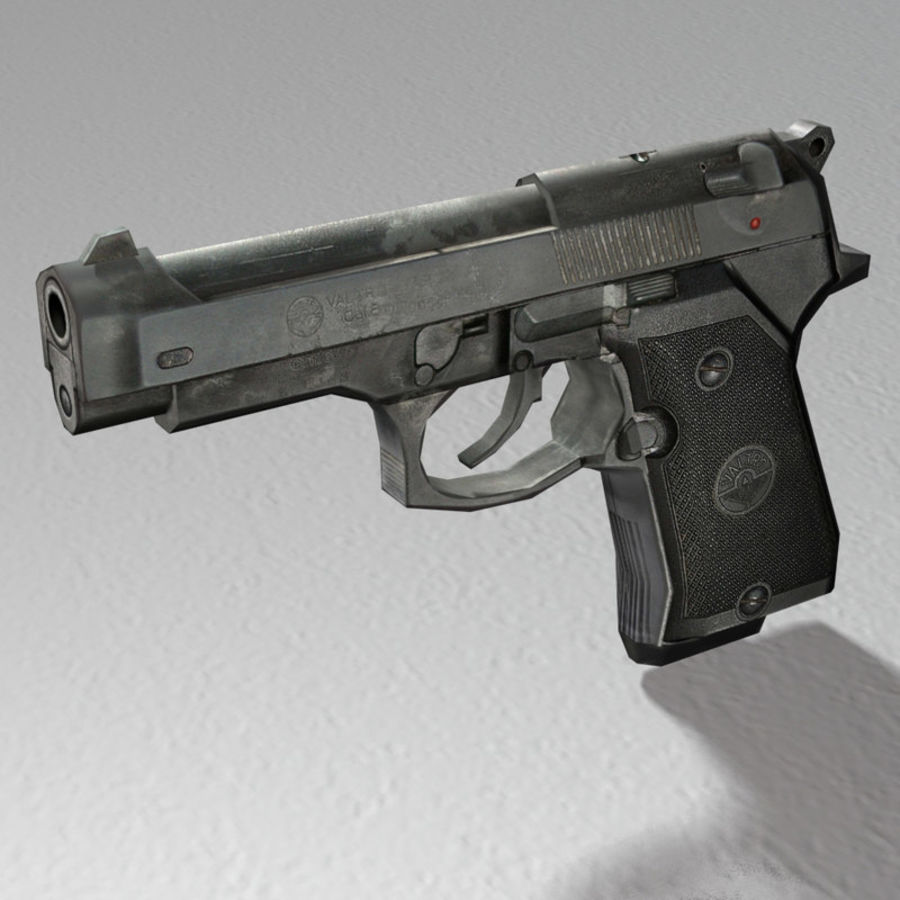 PISTOLA royalty-free modelo 3d - Preview no. 2