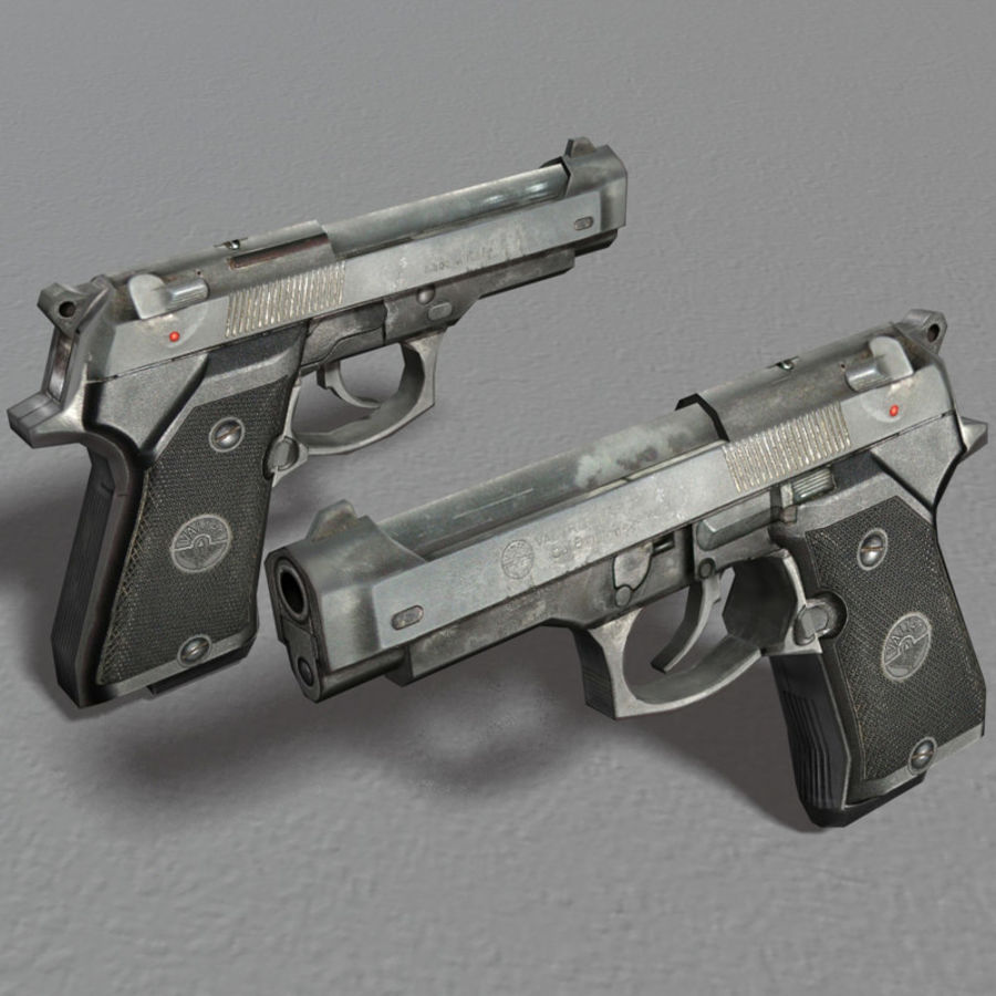 PISTOLA royalty-free modelo 3d - Preview no. 6