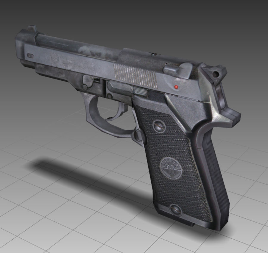 PISTOLA royalty-free modelo 3d - Preview no. 10