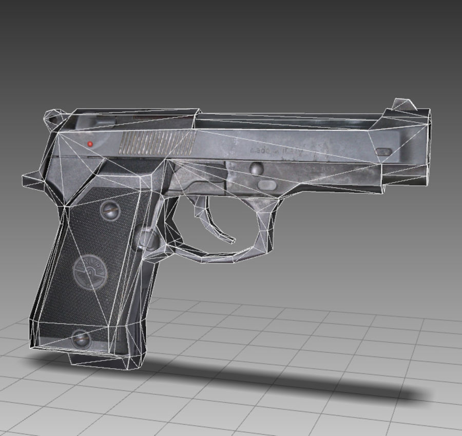 PISTOLA royalty-free modelo 3d - Preview no. 8