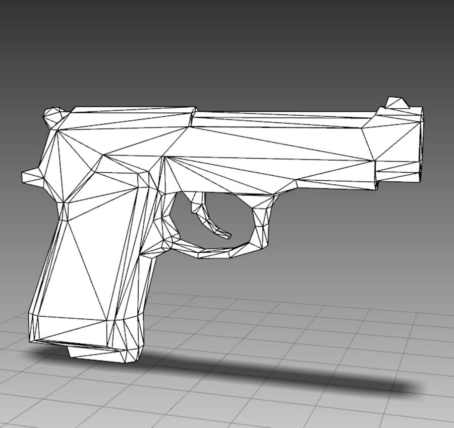 PISTOLA royalty-free modelo 3d - Preview no. 9