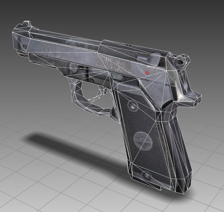 PISTOLA royalty-free modelo 3d - Preview no. 11