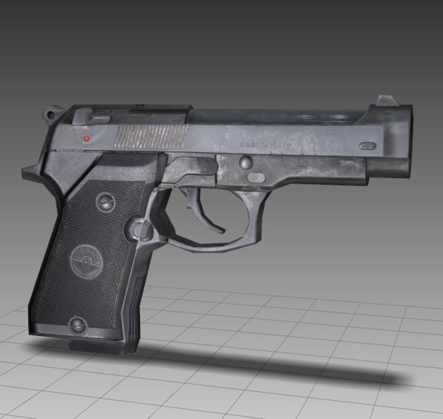 PISTOLA royalty-free modelo 3d - Preview no. 7