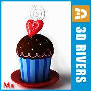Saint Valentine cakes 02 V1 by 3DRivers 3d model