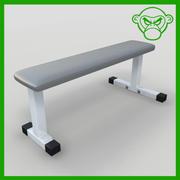 плоская скамейка 3d model