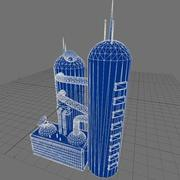 Factory Buildings Low-Poly 3d model