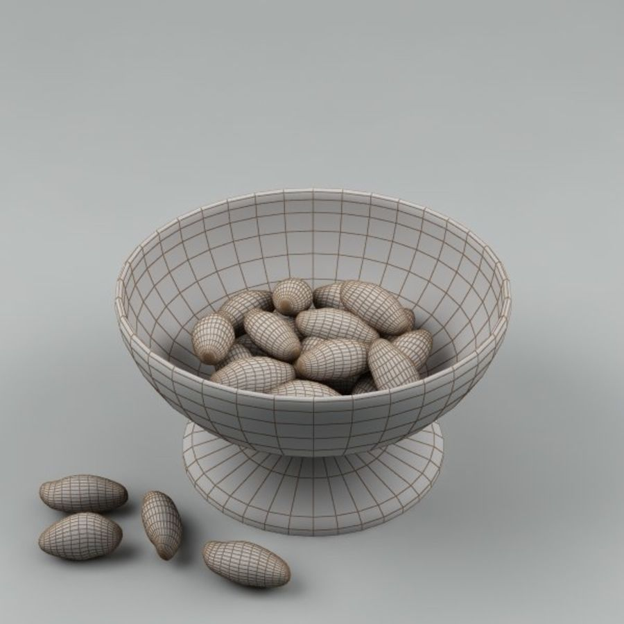 peanuts_01 royalty-free 3d model - Preview no. 4