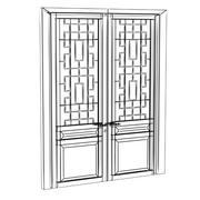 Door glass088.ZIP 3d model
