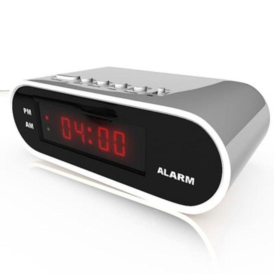 Digital clock 01 by 3DRivers royalty-free 3d model - Preview no. 2