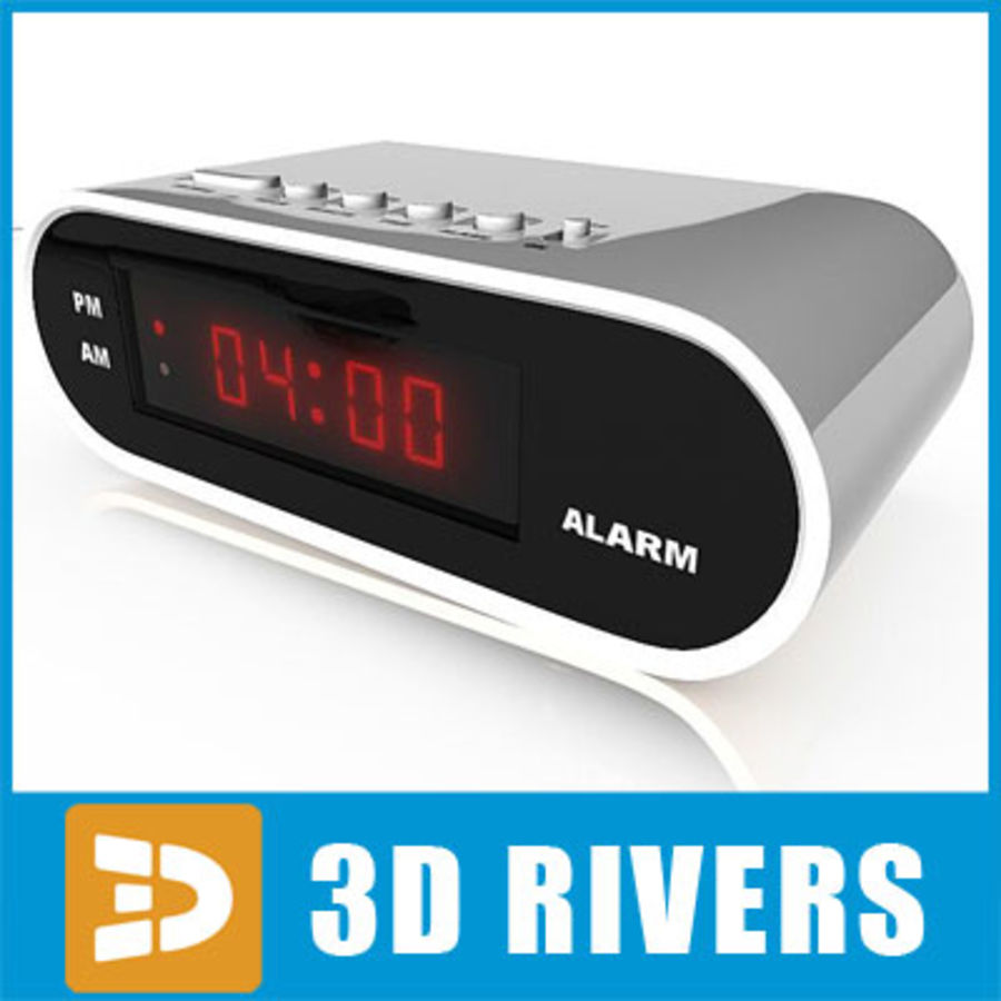 Digital clock 01 by 3DRivers royalty-free 3d model - Preview no. 1