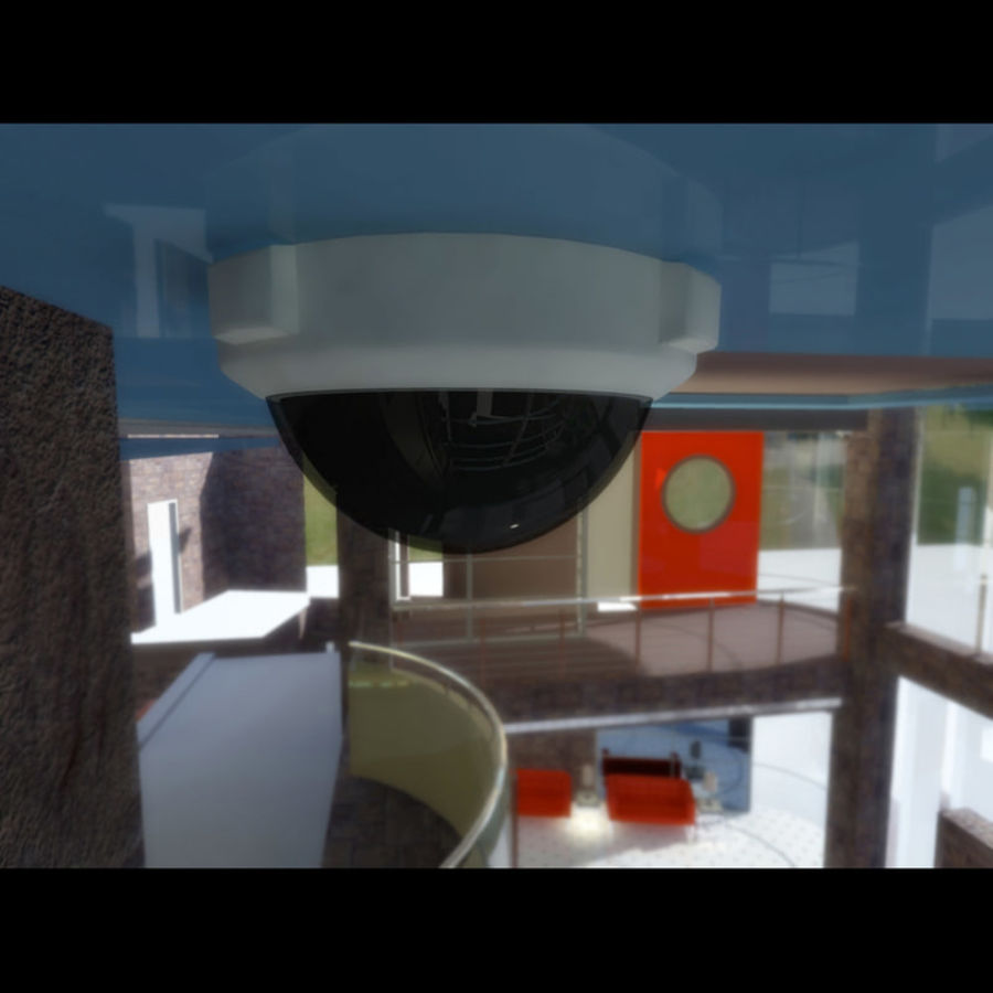 Dome Camera royalty-free 3d model - Preview no. 4