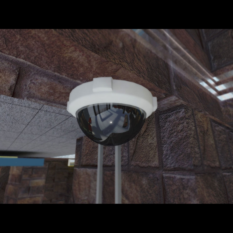 Dome Camera royalty-free 3d model - Preview no. 1