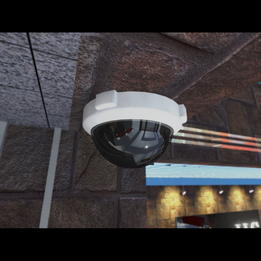 Dome Camera royalty-free 3d model - Preview no. 2