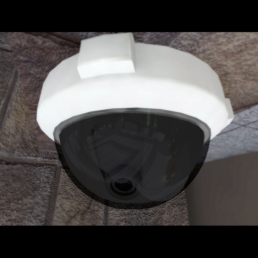 Dome Camera royalty-free 3d model - Preview no. 3